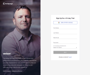 Instapage – Sign up page