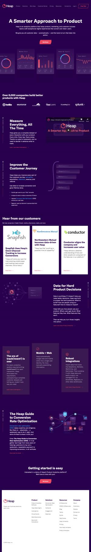 Heap – Homepage