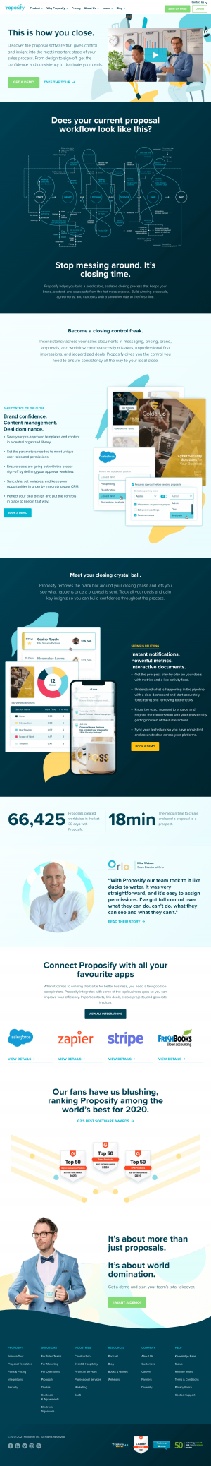 Proposify – Homepage