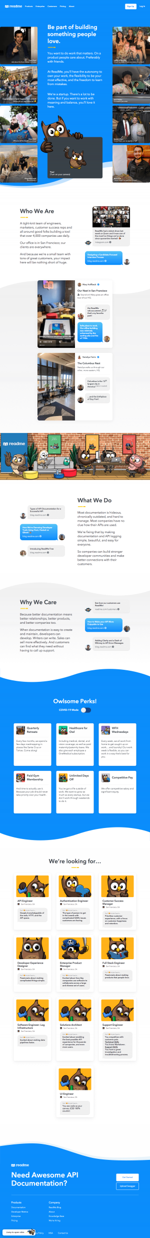 ReadMe – Career page
