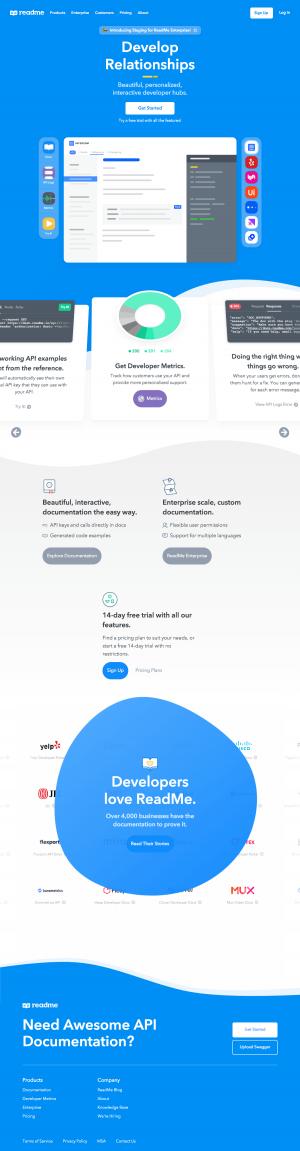 ReadMe – Homepage