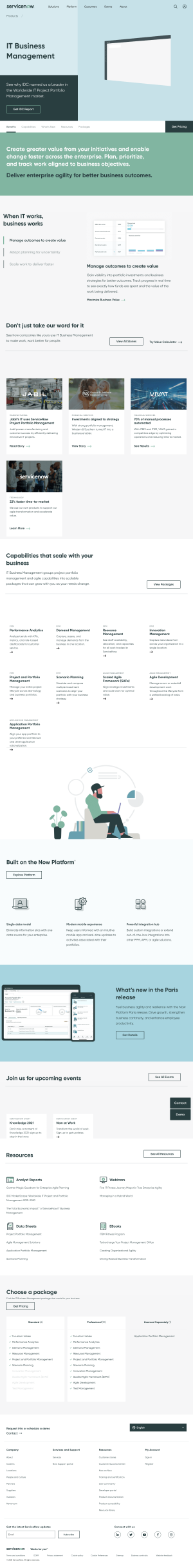 ServiceNow – Features page 2