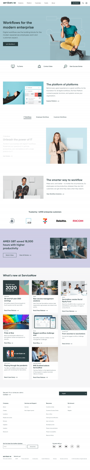 ServiceNow – Homepage