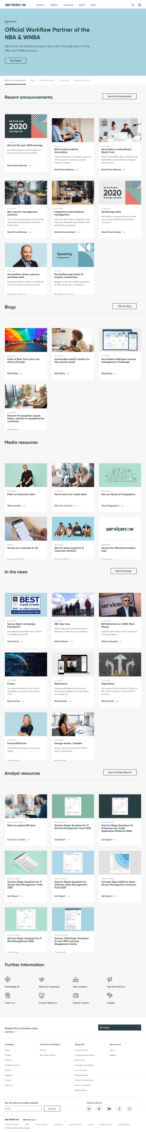 ServiceNow – Newsroom