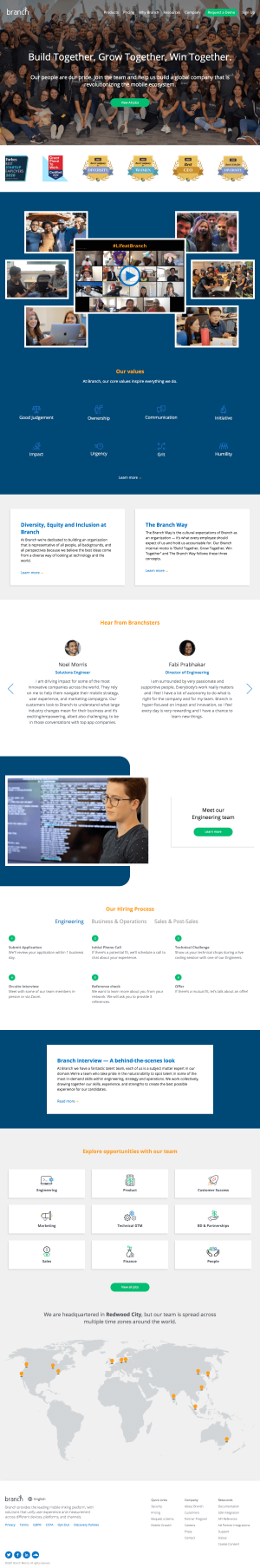Branch – Careers page