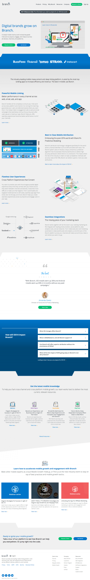 Branch – Homepage