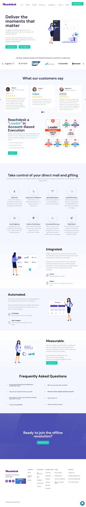 Reachdesk – Homepage