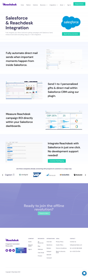 Reachdesk – Integrations page 2