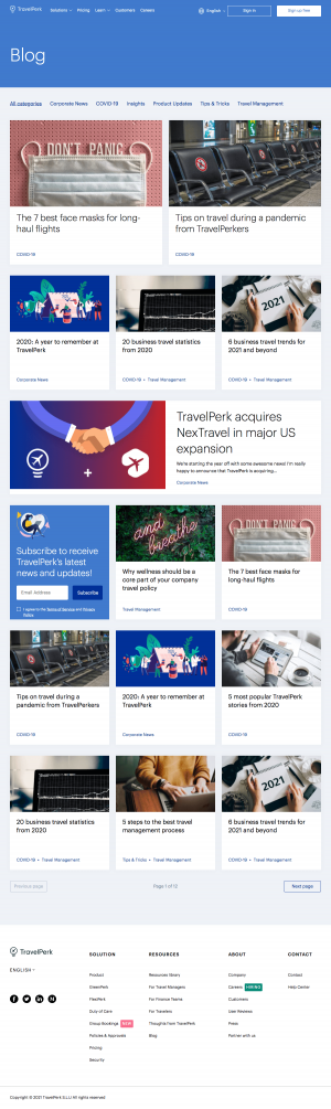 TravelPerk – Blog Index