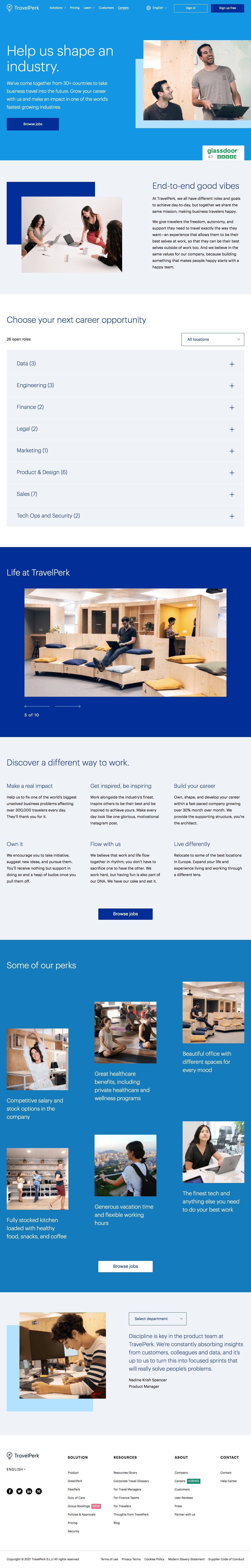 TravelPerk – Careers page