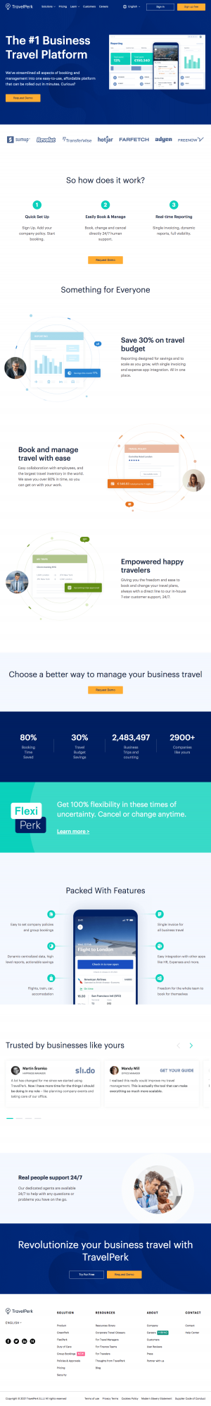 TravelPerk – Homepage