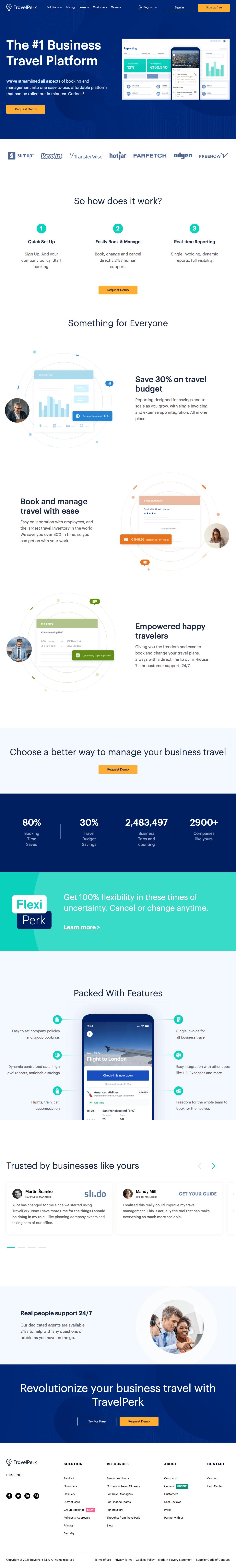 TravelPerk – Homepage