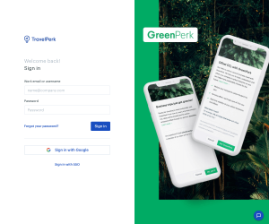 TravelPerk – Login page