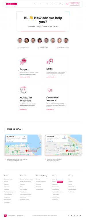 Mural – Contact page