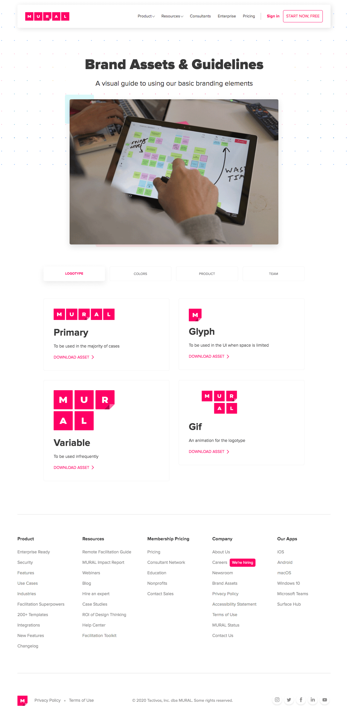 Mural – Brand assets page