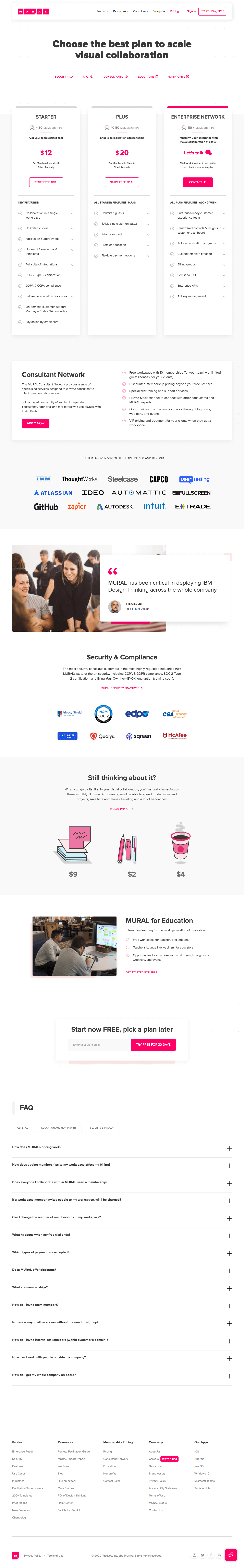Mural – Pricing page