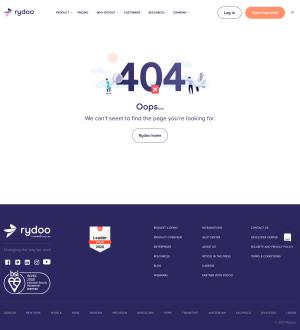 Rydoo – 404 Error page