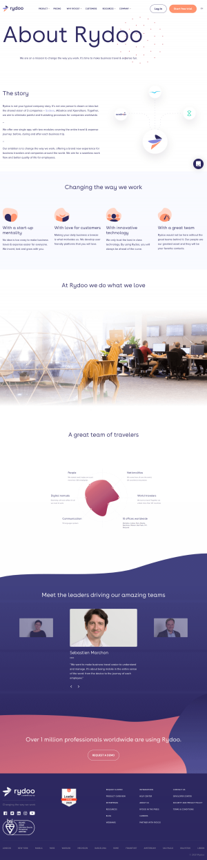 Rydoo – About Us page