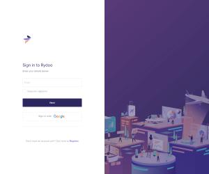 Rydoo – Login page