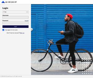 Airship – Login page