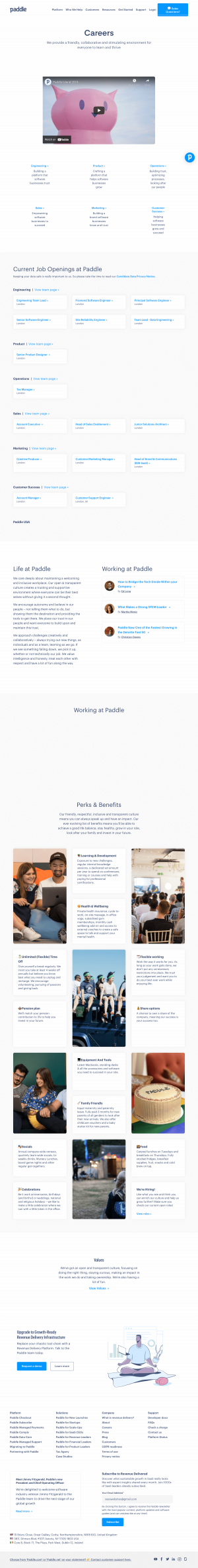 Paddle – Careers page