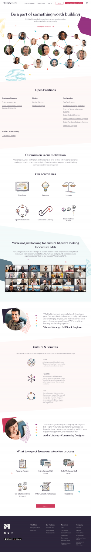 Mighty Networks – Careers page