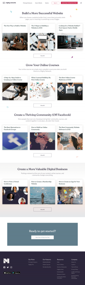 Mighty Networks – Resources page