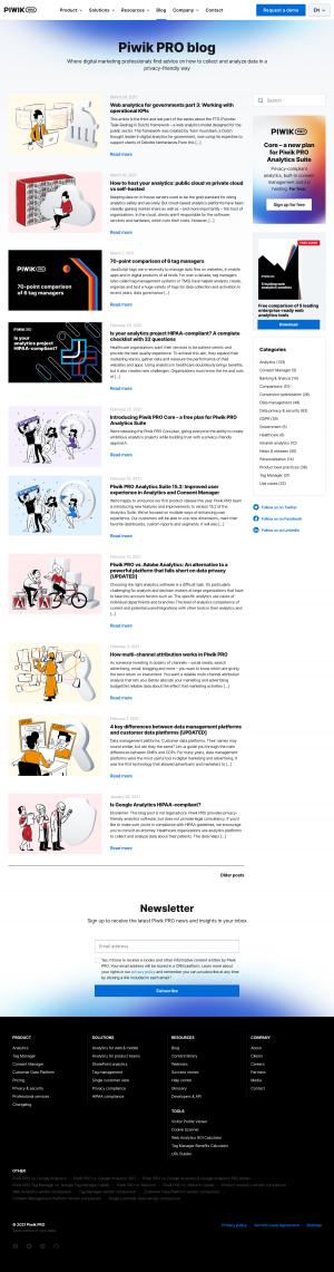 Piwik PRO – Blog Index