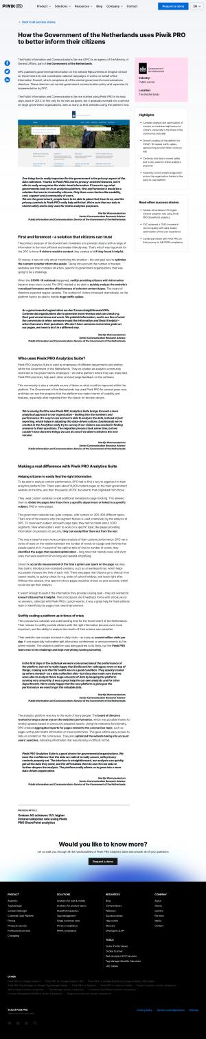 Piwik PRO – Customers page 2