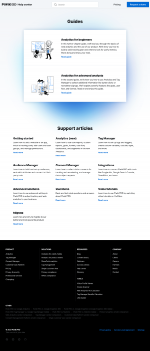 Piwik PRO – Support page
