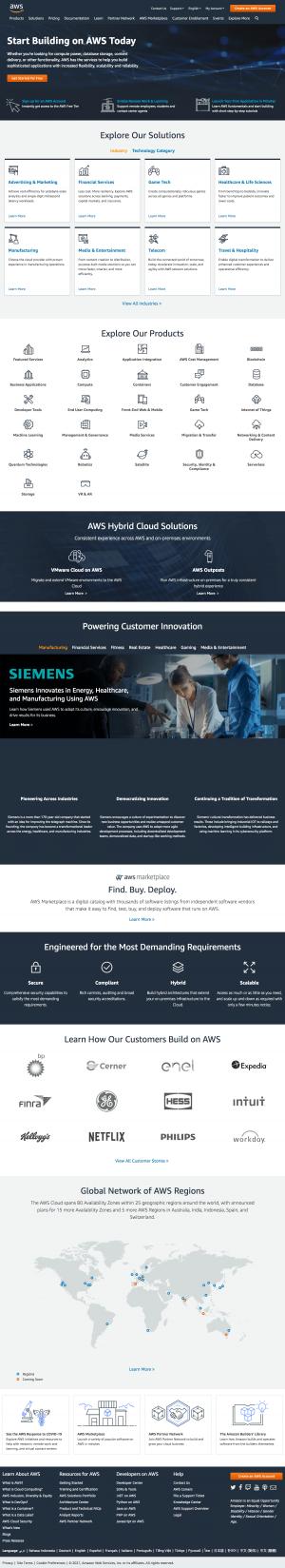 AWS – Homepage