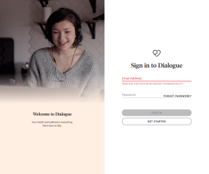 Dialogue – Login page
