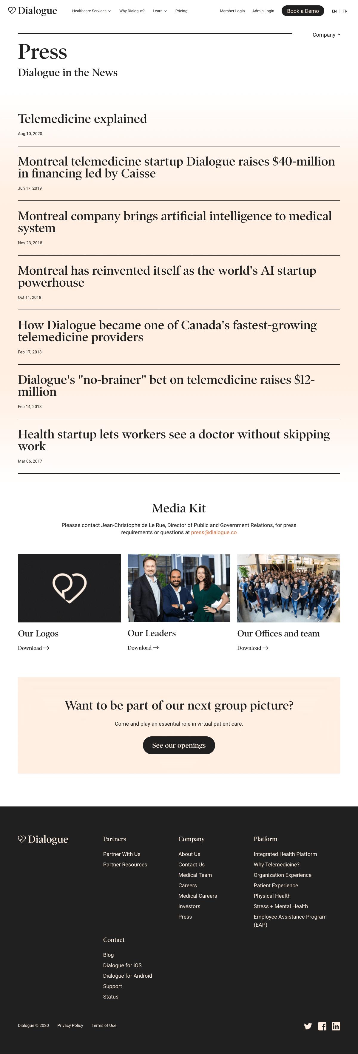 Dialogue – Newsroom