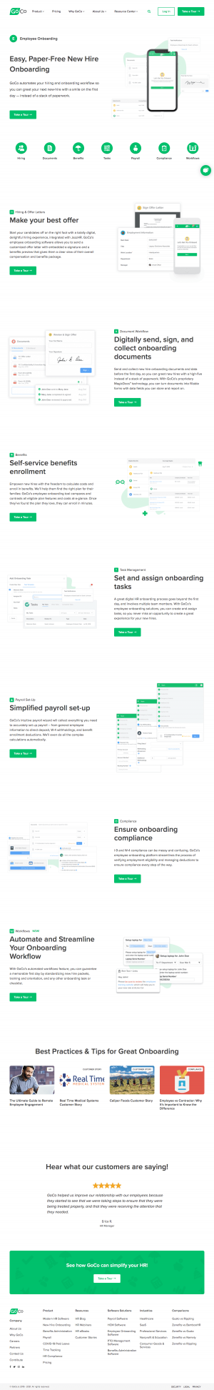 Goco – Features page 1