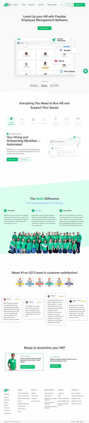 Goco – Homepage
