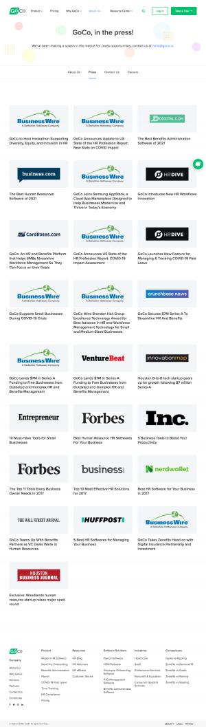 GoCo – Newsroom page