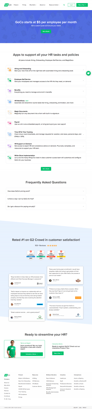 GoCo – Pricing page