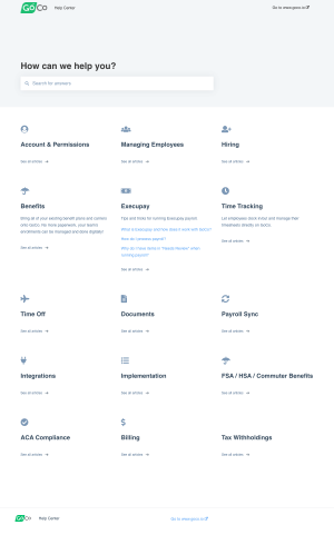 GoCo – Support page