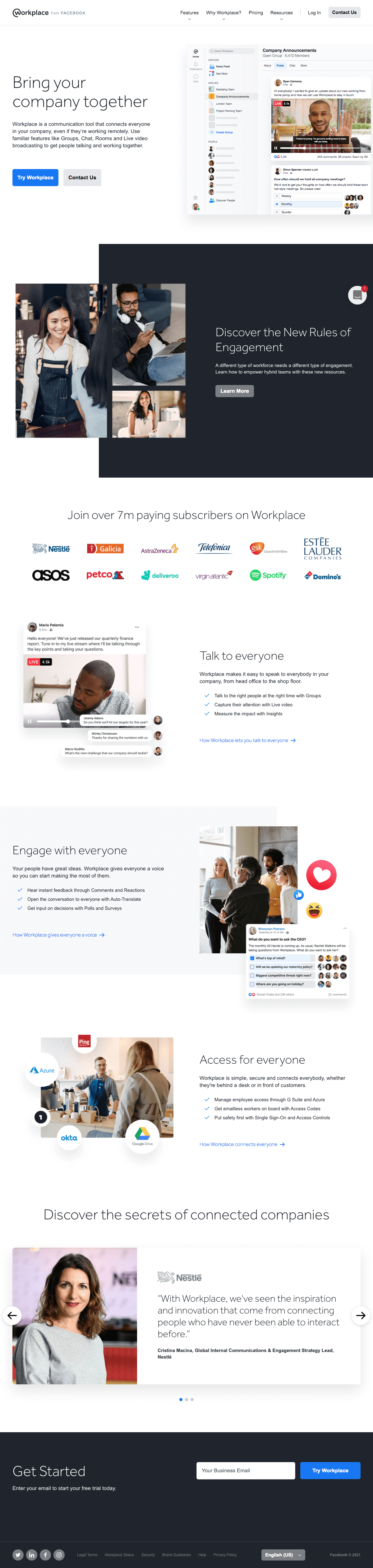 Workplace – Homepage