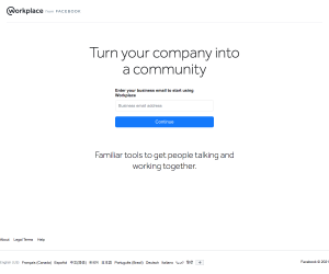Workplace – Signup page