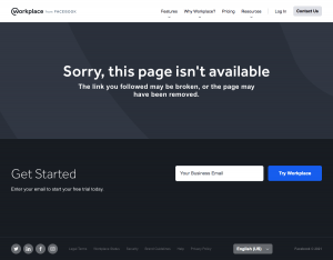 Workplace – 404 Error page