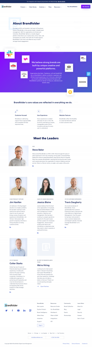 Brandfolder – About Us page