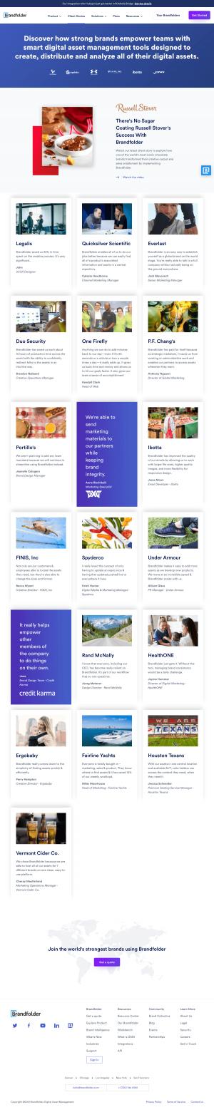 Brandfolder – Customers page