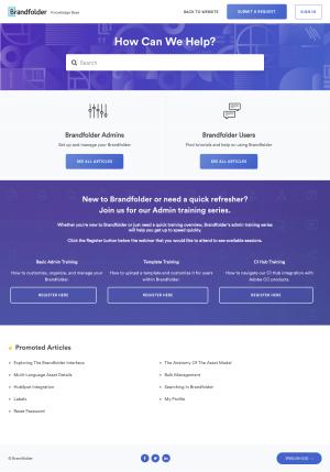 Brandfolder – Support page