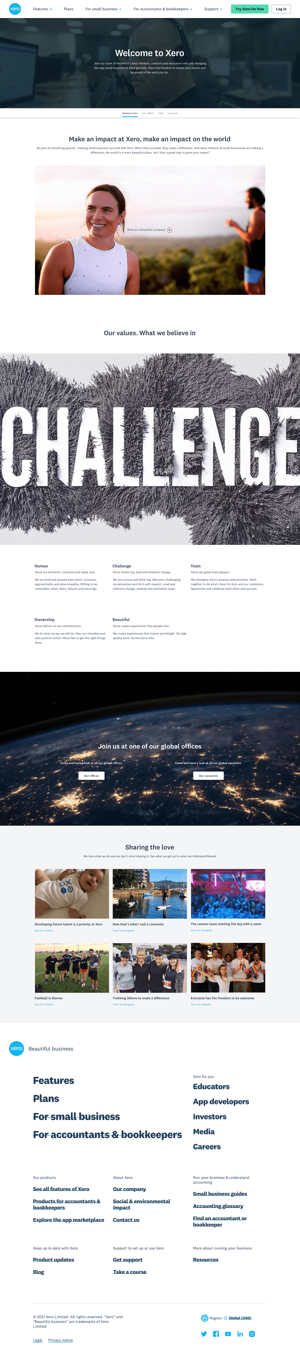 Xero – Careers page