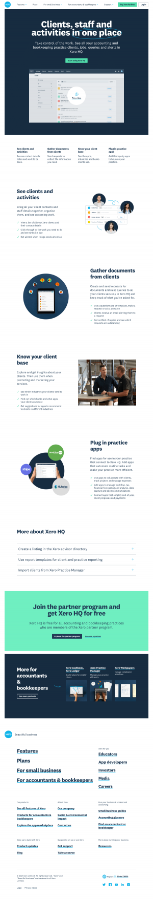 Xero – Features page 2