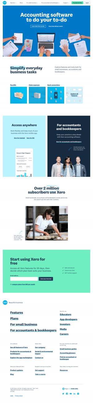 Xero – Homepage