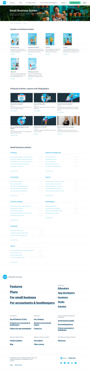 Xero – Resources page