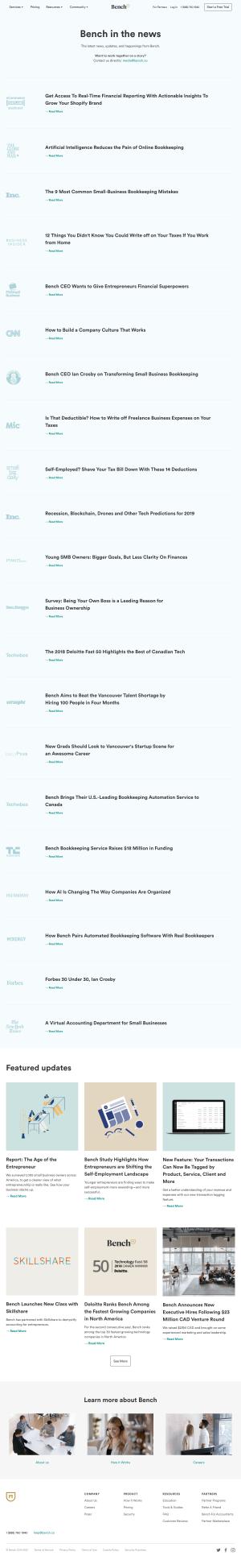 Bench – Newsroom