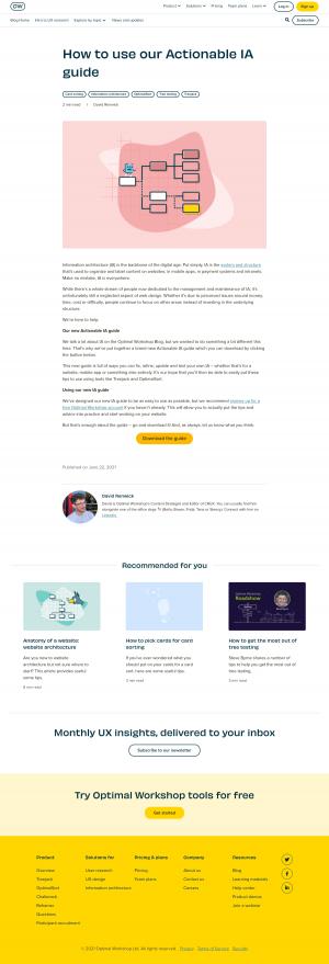 Optimal Workshop – Blog Article